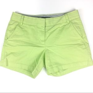 J Crew Chino shorts green size 6
